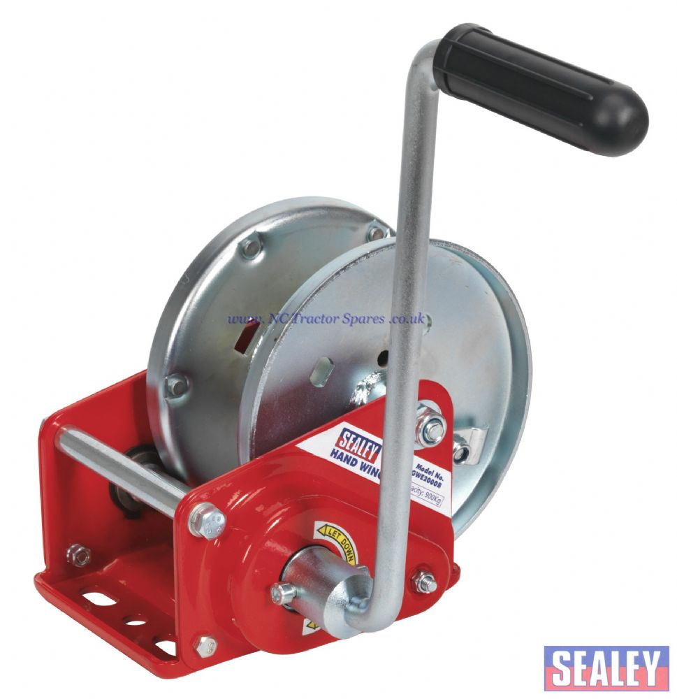 Geared Hand Winch with Brake 900kg Capacity